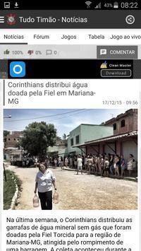TudoTimão Notícias Corinthians apk screenshot