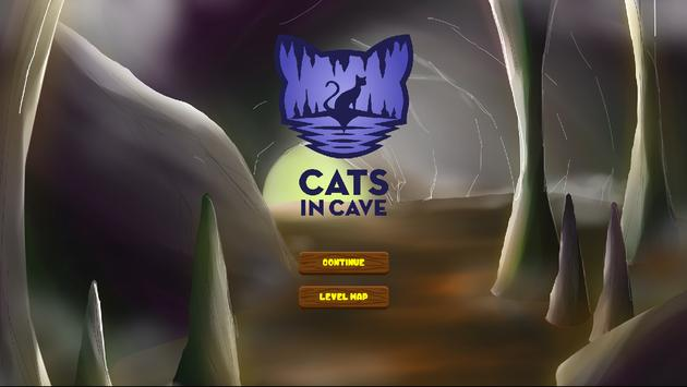 Cats in Cave poster