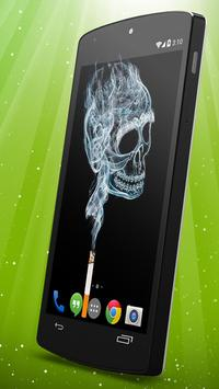 Cigarette Smoke Live Wallpaper Poster Apk Screenshot