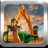 Tractor Concrete Excavator 3D icon