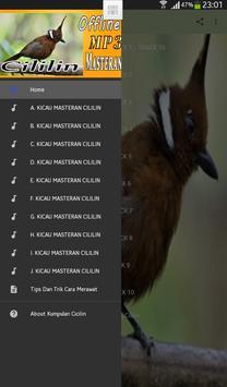 Kumpulan Masteran Kicau Cicilin Tembakan MP3 screenshot 3