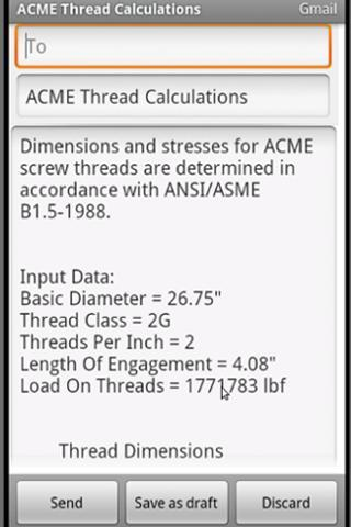 ACME Thread Calculation for Android - APK Download