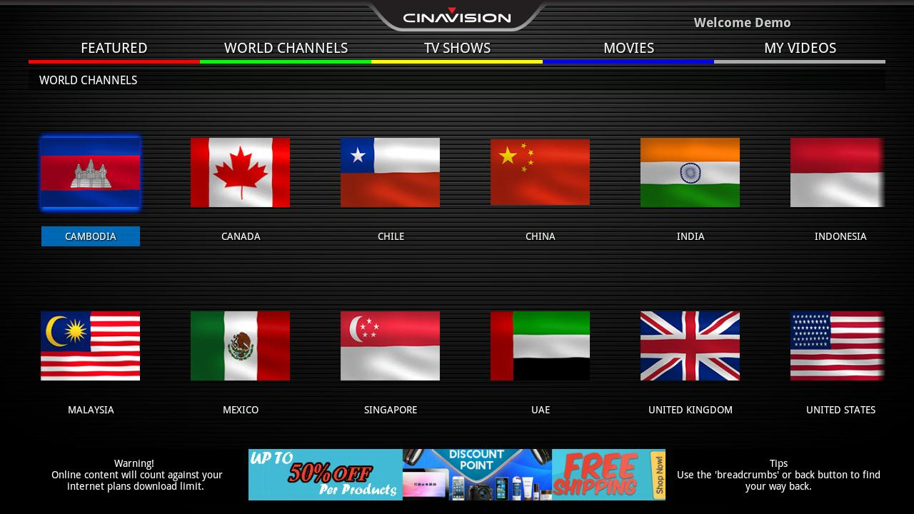 Cinavision TV for Android - APK Download