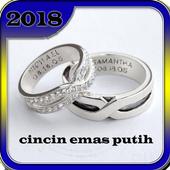 cincin emas putih icon
