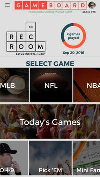 GAMEBOARD @ The Rec Room® poster