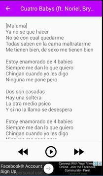 Maluma De Letra Musica apk screenshot