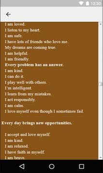 Positive Affirmations For Kids apk screenshot