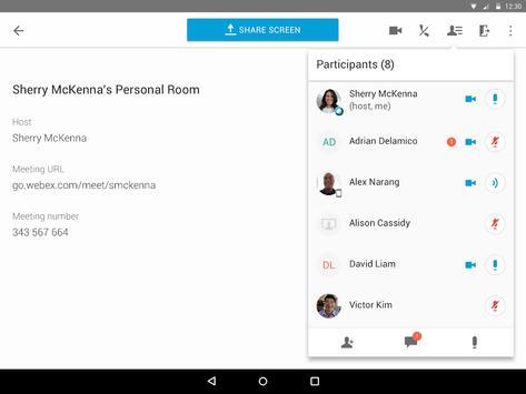 Cisco Webex Meetings スクリーンショット 8