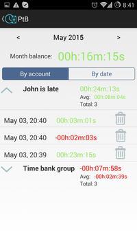 Personal Time Bank screenshot 1