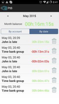 Personal Time Bank screenshot 2