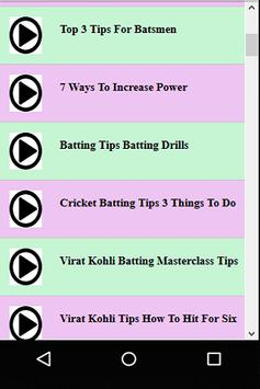 Cricket Batting Guide screenshot 1
