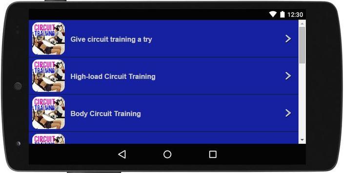 Circuit Training apk screenshot