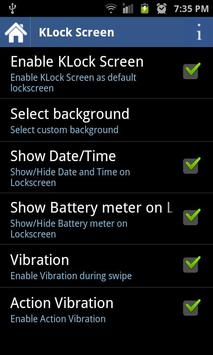 KLock Screen apk screenshot