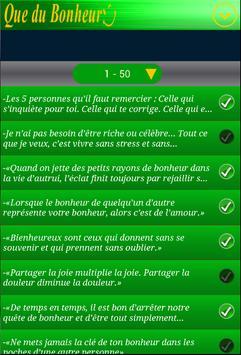 Citations Bonheur screenshot 2