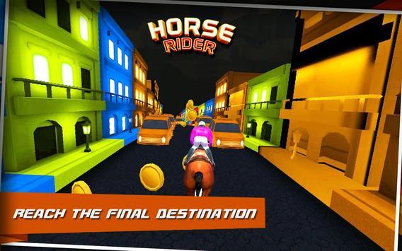 Horse Rider : City Race apk screenshot