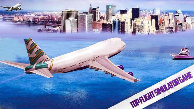 City Airplane Flight Simulator-Free 2017 poster