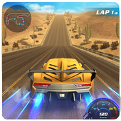 Drift car city traffic racer icon