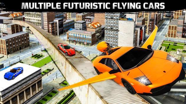 Flying Car Stunts Grand City:Flying Car Simulator poster