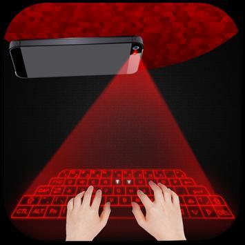 Hologram 3D keyboard simulated screenshot 2