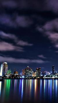 city skyline live wallpaper poster