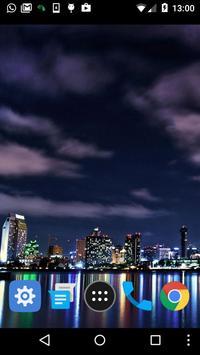 city skyline live wallpaper screenshot 1