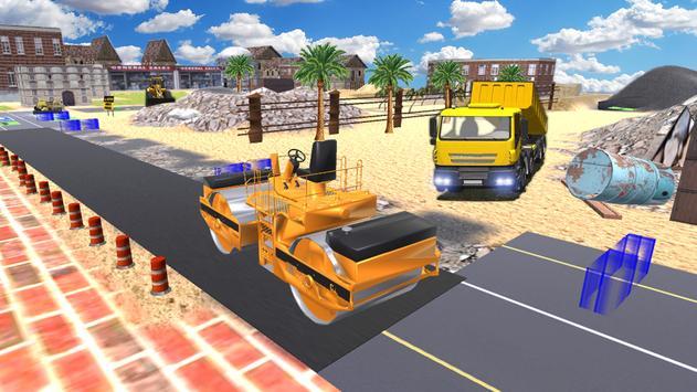 city road roller driving apk screenshot