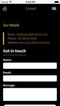 CITY CAB BRUSSELS APP apk screenshot