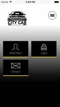 CITY CAB BRUSSELS APP poster