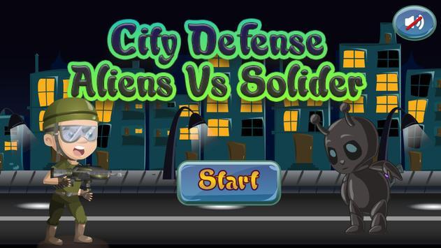 City Defense: Aliens & Solider poster