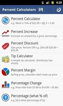 Percent Calculator screenshot 1