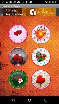 Love Clock Widget poster