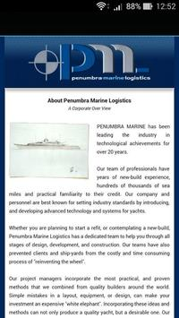 Penumbra Marine Logistics apk screenshot
