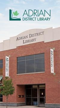 Adrian District Library poster