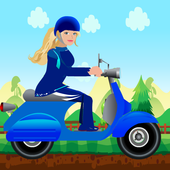 Miss Barbie Scooter Racer icon
