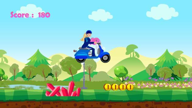 Miss Barbie Scooter Racer apk screenshot