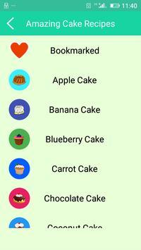 Amazing Cake Recipes screenshot 1