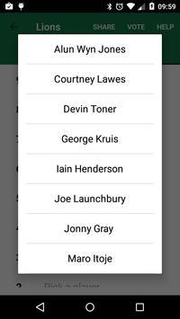 Rugby Vote apk screenshot