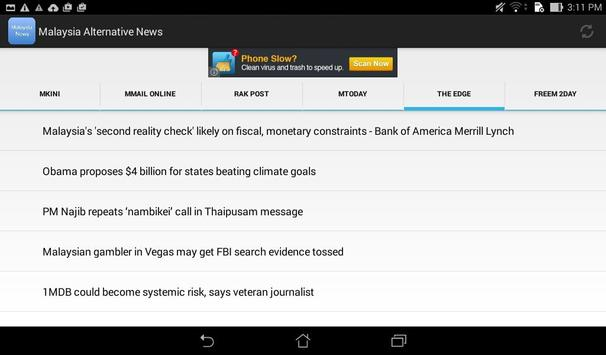 Malaysia Alternative News apk screenshot