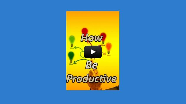 How to Be Productive apk screenshot