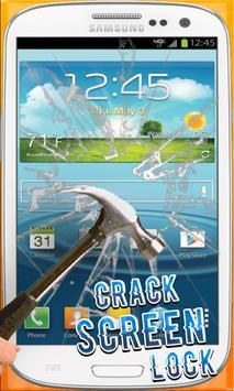Crack screen Lock poster