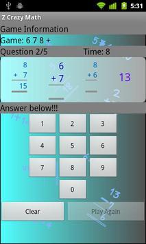 Z Crazy Math screenshot 2