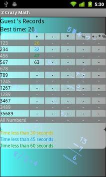 Z Crazy Math screenshot 3