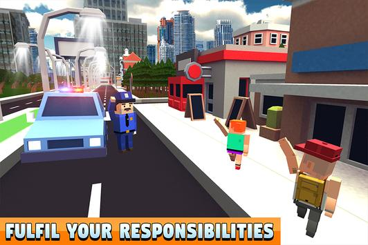 Blocky Police Dad Family: Criminals Chase Game screenshot 12
