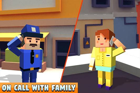 Blocky Police Dad Family: Criminals Chase Game screenshot 13
