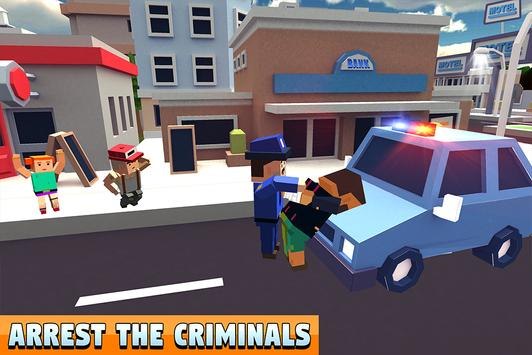 Blocky Police Dad Family: Criminals Chase Game screenshot 14