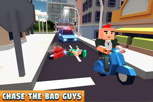 Blocky Police Dad Family: Criminals Chase Game screenshot 1