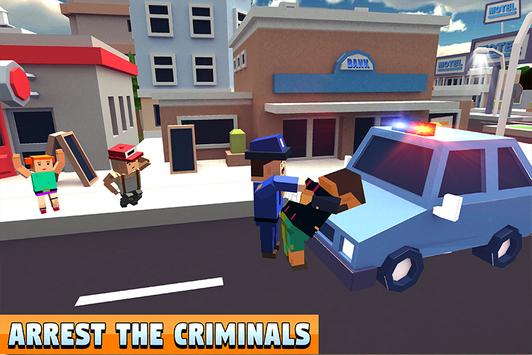 Blocky Police Dad Family: Criminals Chase Game screenshot 4