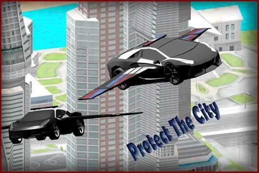Flying Police Car 3D apk screenshot