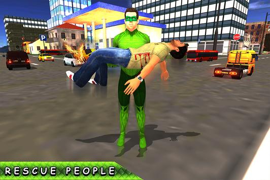 Green Ring Hero Crime Battle screenshot 10