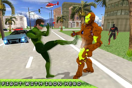 Green Ring Hero Crime Battle screenshot 5